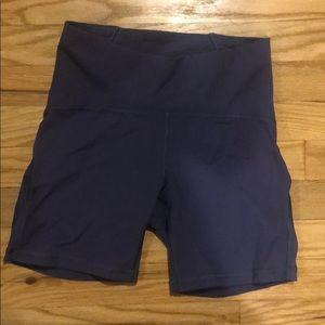 Lulu purple tight shorts